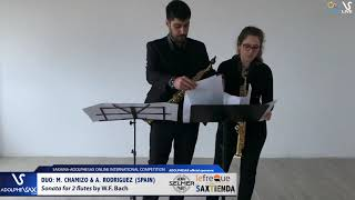 DUO M. CHAMIZO & A. RODRIGUEZ play Sonate by W.F. Bach #adolphesax