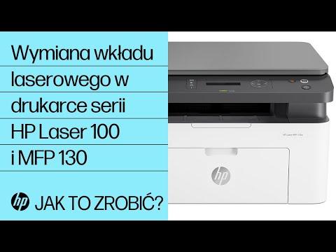 Wymiana wkładu laserowego w drukarce serii HP Laser 100 i MFP 130