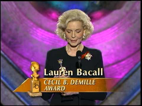 Golden Globes 1993 Lauren Bacall Cecil B  DeMille Award
