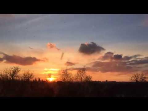 Донецкий закат в декабре (видео)