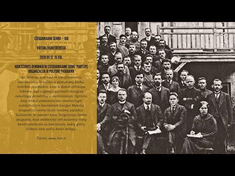 Dr. Artūras Svarauskas | Krikščionys demokratai Steigiamajame Seime: partijos organizacija ir politinė programa
