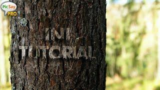 Cara Edit Nama Di Batang Pohon | Picsay Pro