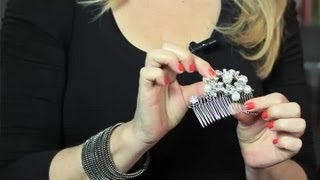 DIY Vintage Hair Combs : Bridal Hair Upstyles
