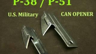 """P-38 U.S. Military """"John Wayne""""  Survival Can Opener"""