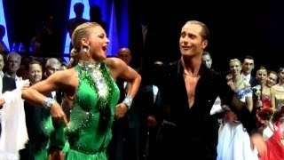 preview picture of video 'Riccardo and Yulia + Arunas and Katusha winner's dance, WDC German Open Mannheim 2013'