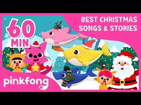 Christmas Sharks and more   Christmas Songs & Stories   +Compilation   Pinkfong Songs for Children