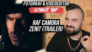 RAF CAMORA   ZENIT (TRAILER)  LIVE REACTION  FOTOGRAF & VIDEOEDITOR SCHAUT RAP