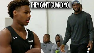 Bronny James GETS CHALLENGED & Jahzare Jackson GOES OFF With Motivation From LeBron