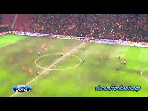 Match Galatasaray vs Juventus 1 0 11 12 2013 goal Sneijder with Drogba pass