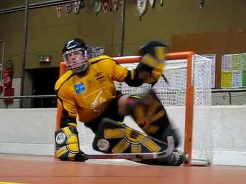 Hockey sobre patines entrenamiento portero Alejandro Marasco Thomas Despla Cortos