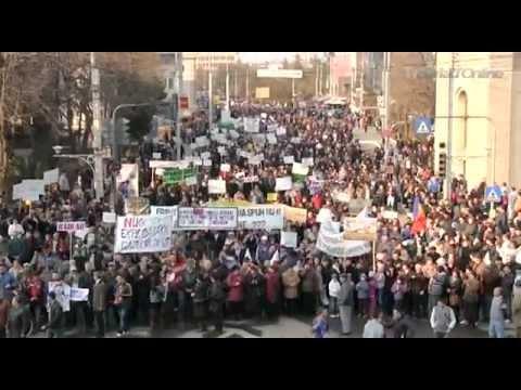 Protest in Barlad impotriva gazelor de sist!