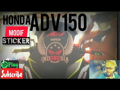 Modifikasi sticker Cutting HONDA ADV150 INDONESIA