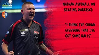 "Nathan Aspinall on beating Ratajski: ""I think I've shown everyone that I've got some balls"""