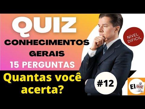 QUIZ DE CONHECIMENTOS GERAIS   NVEL DIFCIL #12