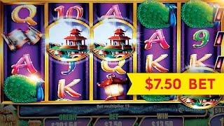 Quick Fire Jackpots Golden Peach Slot $7.50 Max Bet *BIG WIN* Bonus!