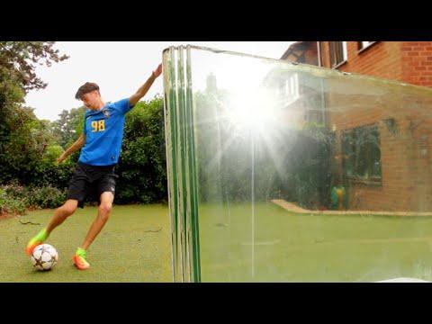 Can a Football Break Bullet Proof Glass? – (FOOTBALL VS)