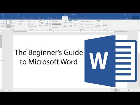 Beginner's Guide to Microsoft Word – 2017 Tutorial