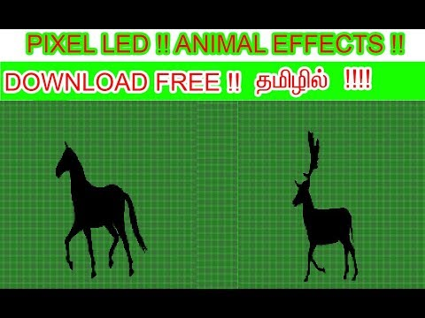 PIXEL LED ANIMAL EFFECTS SWF FILE DOWNLOAD FREE IN TAMIL USING LED EDIT 2012 !!