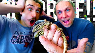 SURPRISING MY SON WITH HIS DREAM BABY LIZARDS!! | BRIAN BARCZYK
