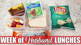 Cold Lunch Ideas   What I Packed My Husband for Lunch   Money Saving Lunches