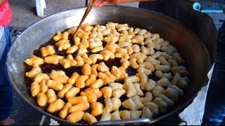Pa Tong Go (Deep-fried dough stick, Chinese donut, Chinese bread stick) | Thailand Street Food