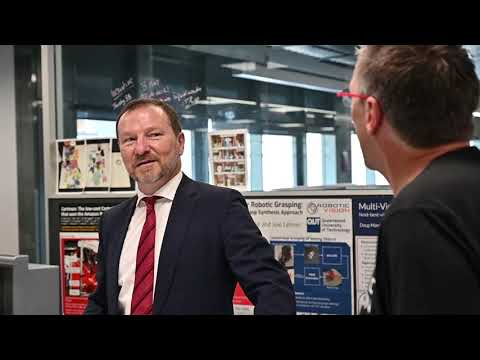 Federal MP Graham Perrett Meets Our Robots