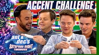 The Accent Challenge | Ant & Dec v Jack & Conor Maynard