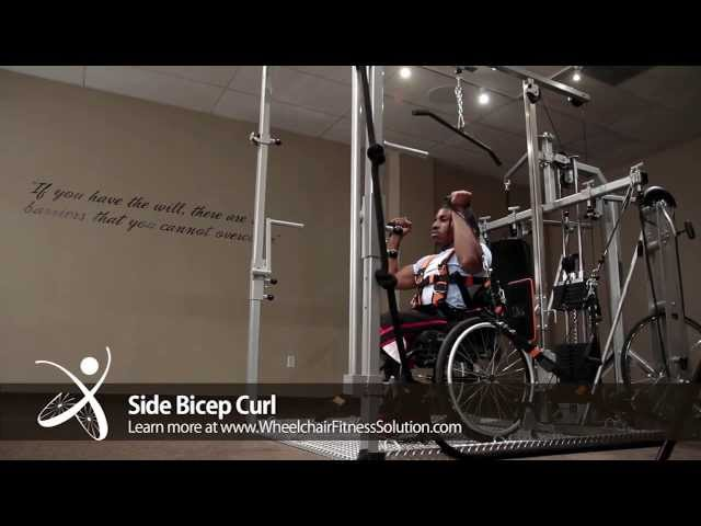 Wheelchair Fitness Solution | Exercise: Side Bicep Curl (35 of 40)