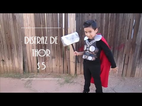 DISFRAZ DE THOR PARA HALLOWEEN |  LAST MINUTE HALLOWEEN THOR COSTUME $5
