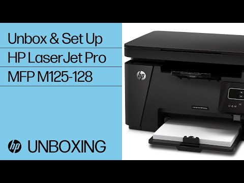 Unpacking the HP LaserJet Pro MFP M125-128 Printer Series