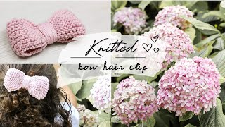 KNITTED BOW HAIR CLIP - tutorial, step-by-step for beginners