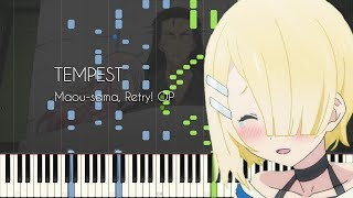 TEMPEST - Maou-sama, Retry! OP - Piano Arrangement [Synthesia]