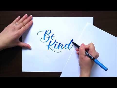 Brush Lettering for Beginners: Blending Brush Pens