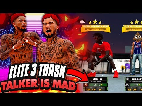 NBA 2K19 MyPARK - EASY 23 POINTS! STOP RUNNING From High Overalls! ELITE 3 TRASH TALKER GETS MAD!!