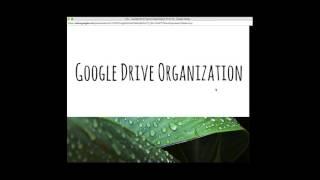 Google Drive Organization 1/21/2016