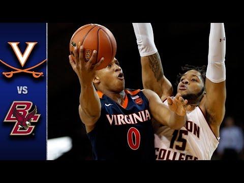 Virginia vs. Boston College Men's Basketball Highlights (2016-17)