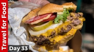 Shake Shack in NYC - Eating The Double Shack Burger! - Video Youtube