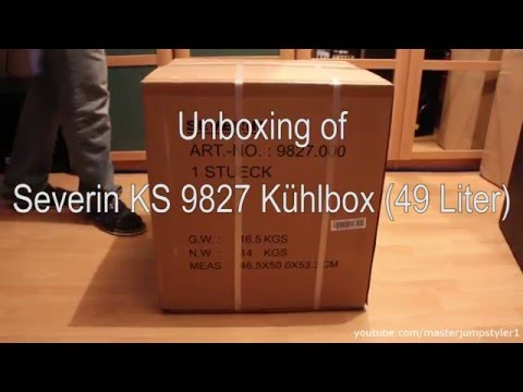 Unboxing // Review: Severin KS 9827 Kühlbox 49 Liter (weiß/white)