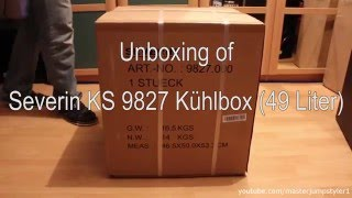 Unboxing // Review: Severin KS 9827 Kühlbox 49 Liter (weiß/white)