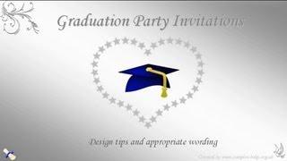 Graduation Party Invitation Wording