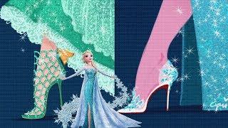 If Disney Princesses Wore Designer Modern Heels Shoes