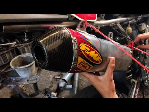 EXHAUST FMF F4.1 | UPGRADE HORSE POWER !!! | SUPERMOTO BUILD | EPISODE 5