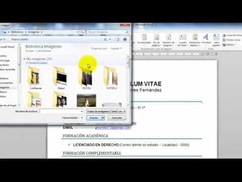 Poner Foto Al Currículum  miniatura