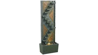 """Kenroy Home Traverse Natural Slate 48""""H Fountain with Light"""