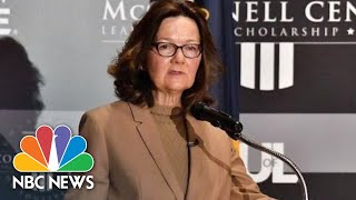 CIA Director Gina Haspel Comments On Agency