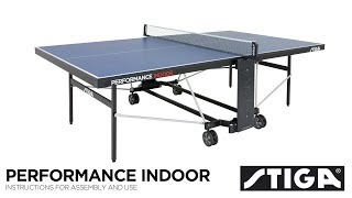 Performance Indoor assembly instructions