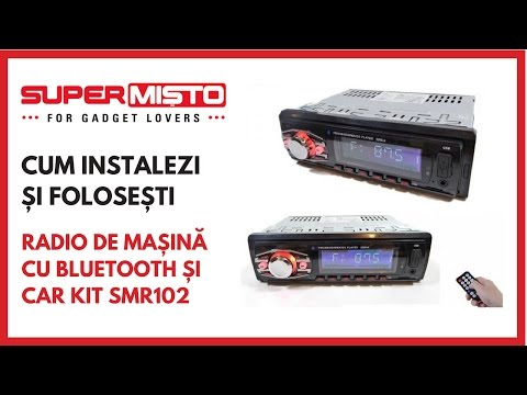 Cum conectezi telefonul la Radio De Mașină Cu Bluetooth și Car Kit SMR102