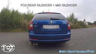 Video: Skoda Octavia RS 1Z Sportauspuffanlagen Vergleich mit der originalen Auspuffanlage