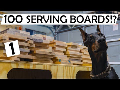 🤯We Built 100 Serving Boards IN ONE BATCH!