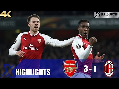 Arsenal vs AC Milan (3-1) Extended Highlights & All Goals (UEL 17/18) UHD 4K